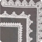 """Puntillas """"Los Cactos"""", """"Aurora"""" y """"Las Bellotas"""" a Crochet"""