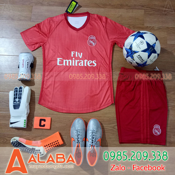 Áo CLB Real 2019 màu đỏ