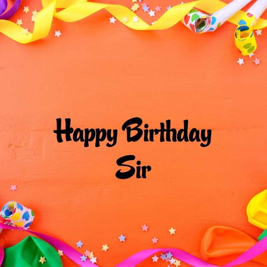 happy birthday sir cake images