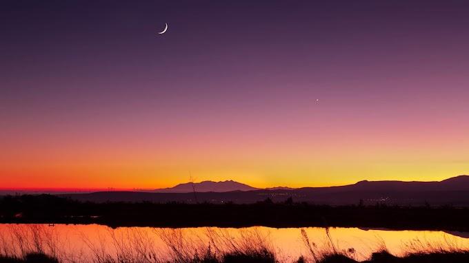 Papel de Parede Lindo Céu com Lua