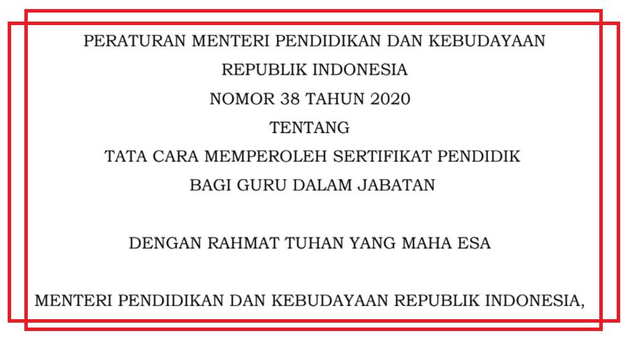 gambar permendikbud nomor 38 tahun 2020