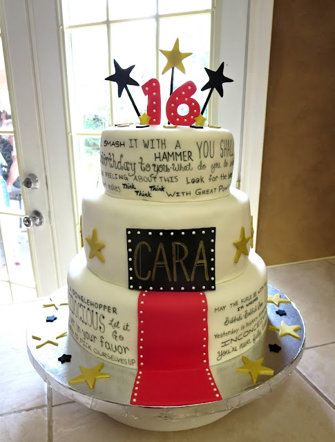 Hollywood Movie Quotes Red Carpet Cake 1