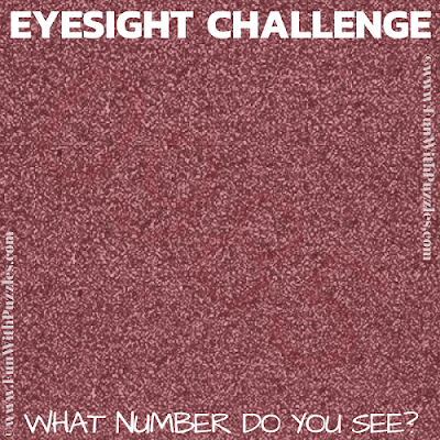 It puzzle is to test your eyesight in which you have to find the hidden number in given puzzle image