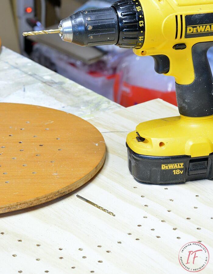 DIY Bistro Cafe Tabletop Design Drilled