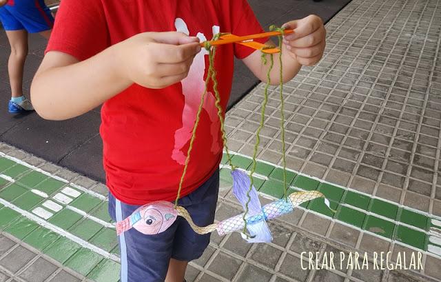 dragones marionetas actividades para niños