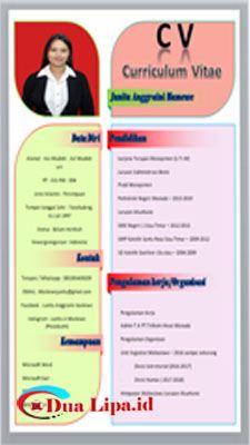 Download curriculum vitae atau CV gratis format word model 003