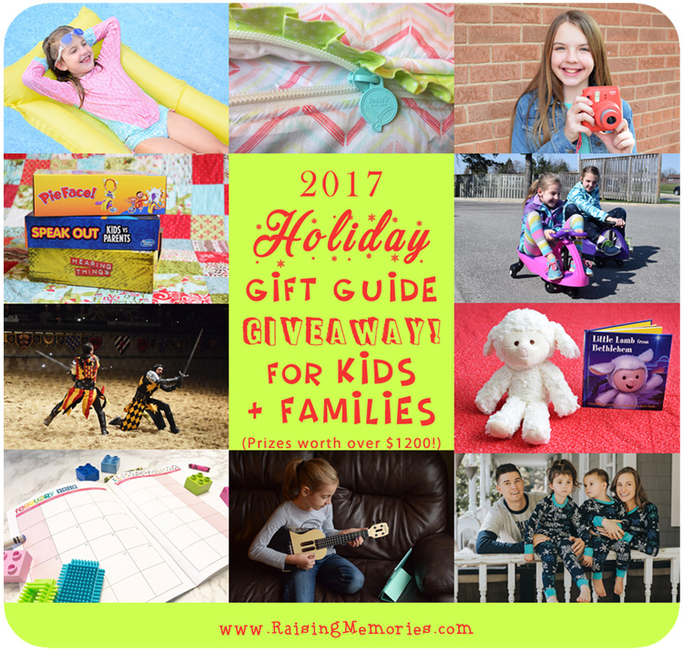 2017 Holiday Gift Guide for Kids and Families by www.RaisingMemories.com