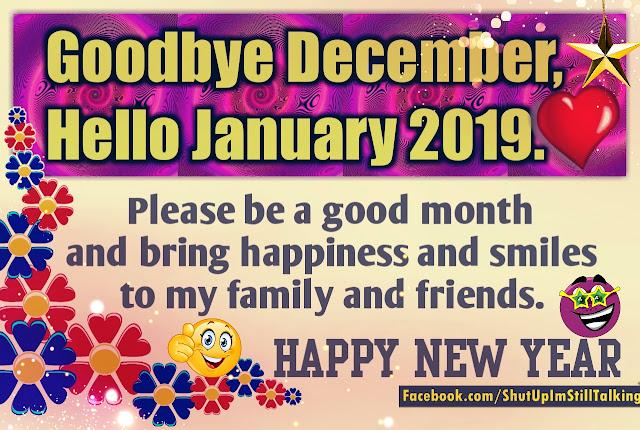 Goodbye December, Hello January 2019