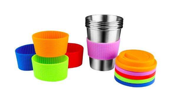 What to pack in your bag for a day at a theme park  - stackable travel cups