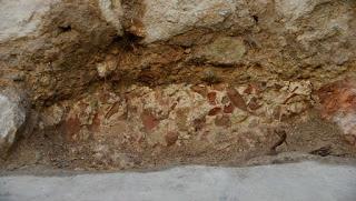 Opus signinum del Castell de Bellvís