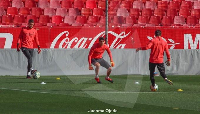 El Sevilla sigue ejercitándose de cara a la eliminatoria contra la AS Roma