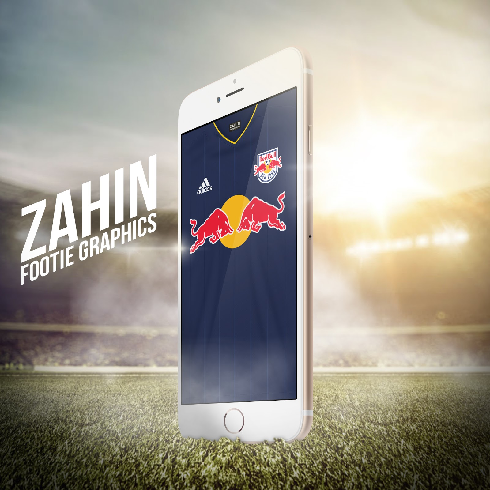 New York Red Bulls 2016 Zahin Footie Graphics