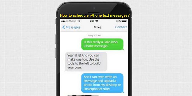 How to schedule iPhone text messages