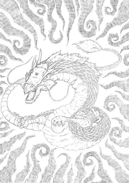 Dessin d'un dragon au crayon
