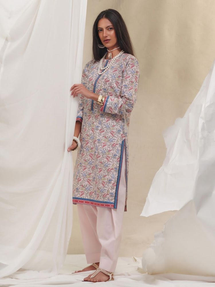 Gul Ahmed Lawn Multicolor Shirt Unstitched