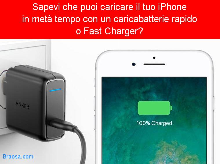Come caricare il tuo iPhone in metà tempo con un caricabatterie rapido