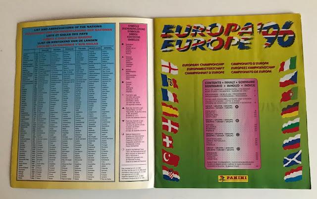 Pagine introduttive album panini euro 96