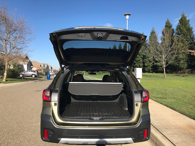Tailgate open on 2020 Subaru Outback Touring XT