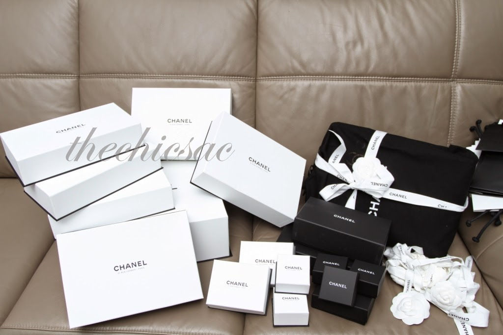 27d25e4e7a6cb8 And here's some of the boxes from Chanel. Too tired to open up everything  for a group picture, but we did photograph each item individually later.
