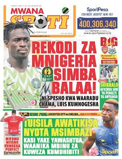 Habari Kubwa Za Magazeti ya Leo Tanzania January 18, 2021