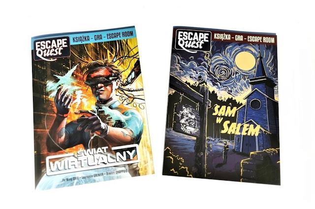 dwie ksiażki, na jednej okładce mamy mężczyznę w wirtualnych okularach a na drugim miasteczko salem nocą