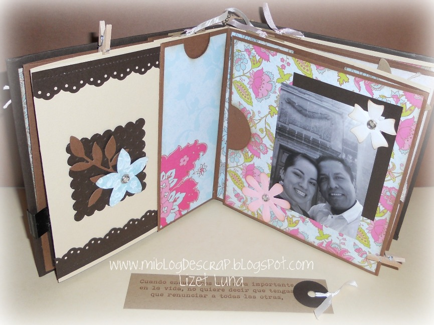 Lizet luna mini album de scrapbook - Como hacer un album scrapbook ...