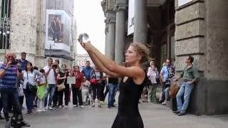 Amazing Street Performer Suzanna With Crystal Ball