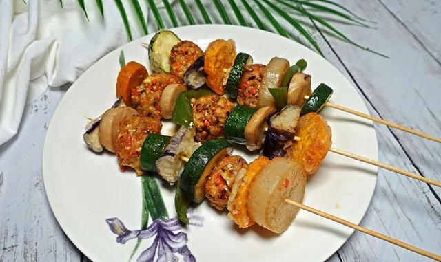 素食串燒~家常料理、豆腐蔬菜全素串燒