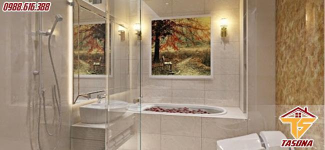 Không gian nhà tắm sang trọng lịch sự