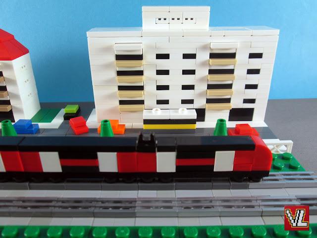 MOC LEGO Comboio CP serie 3500 em micro escala