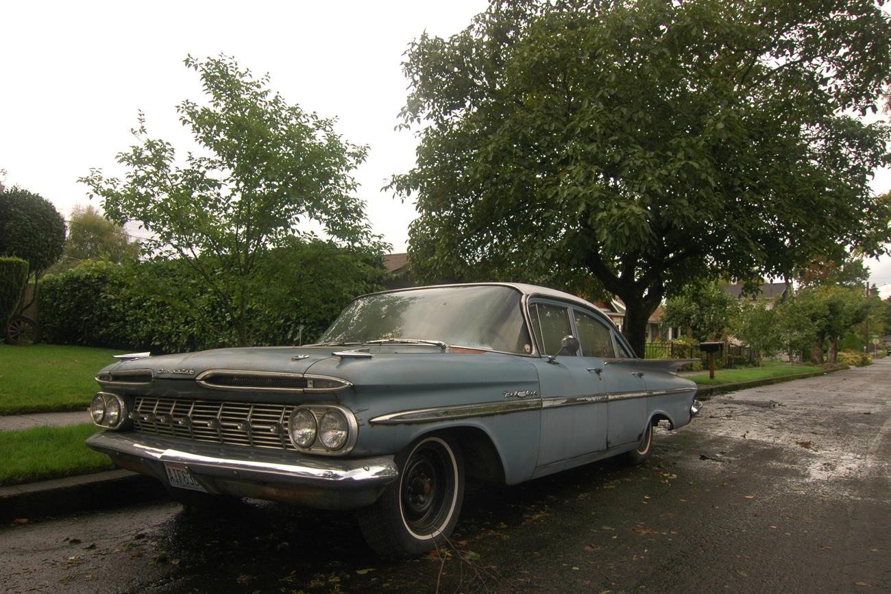 old parked cars 1959 chevrolet bel air. Black Bedroom Furniture Sets. Home Design Ideas