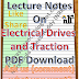 Lecture Notes on Electrical Drives and Traction PDF Material Download
