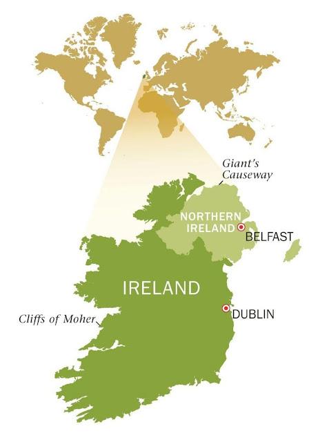خريطة إيرلندا Ireland Map