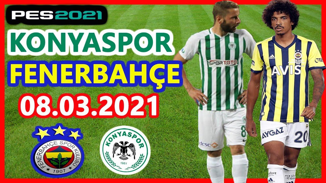 8 Mart 2021 Pazartesi Konyaspor - Fenerbahçe maçı şifresiz izlemaç Jestyayın Selçukspor Justin tv Taraftarium24 Online Canlı maç izle