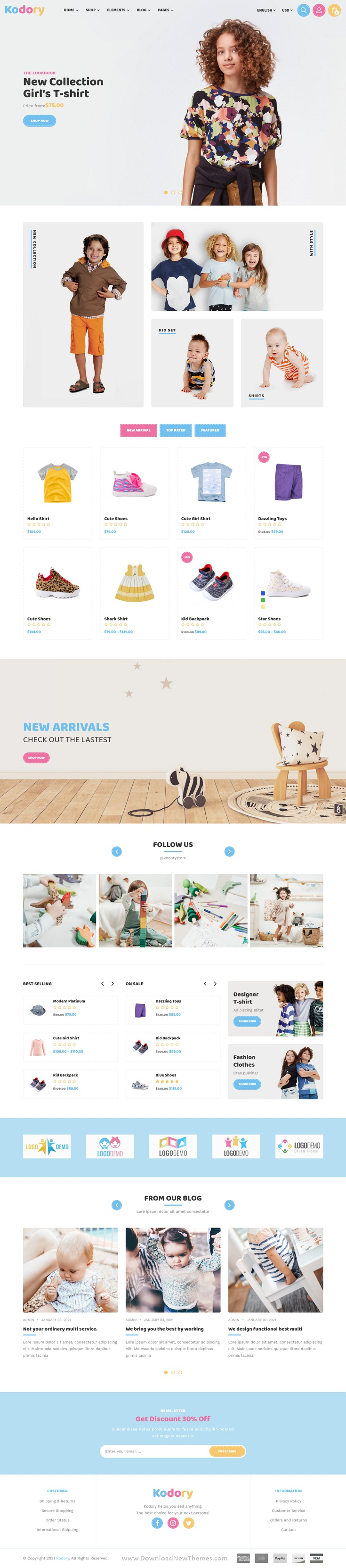 Kids Store HTML Template