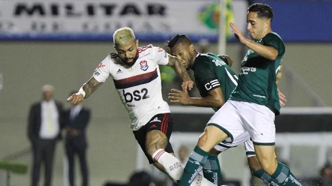 Flamengo sofre, empata com Goiás e vê vantagem para o Palmeiras cair