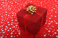 Star studded red gift box