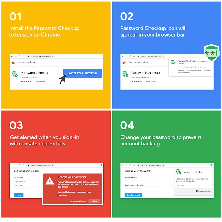Password Checkup  A new Chrome extension for privacy