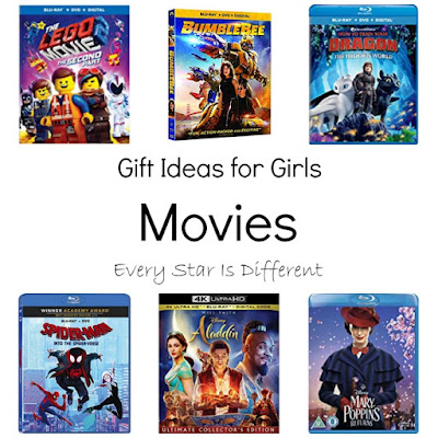 Gift Ideas for Girls: Movies