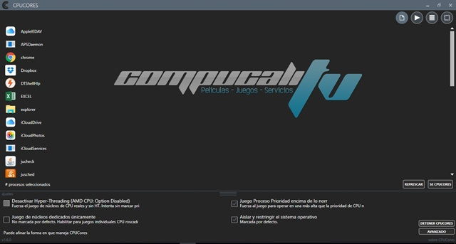 CPUCores 1.6.0 Full Español Programas para Maximizar los FPS