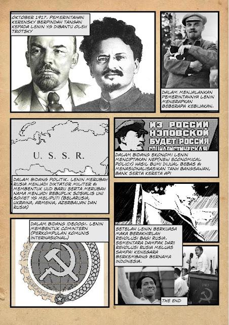 pembelajaran revolusi rusia melalui komik