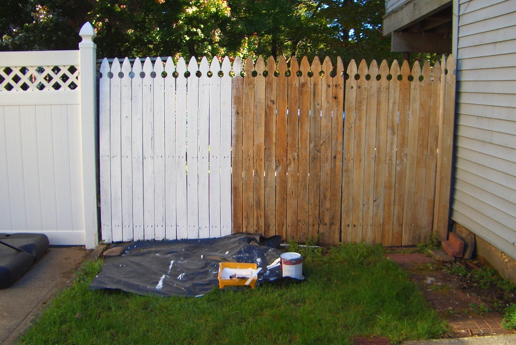 It S Funny What White Paint Can Do For Something Ugly Don T Get Me Wrong The Fence Was Still And Needed To Be Replaced