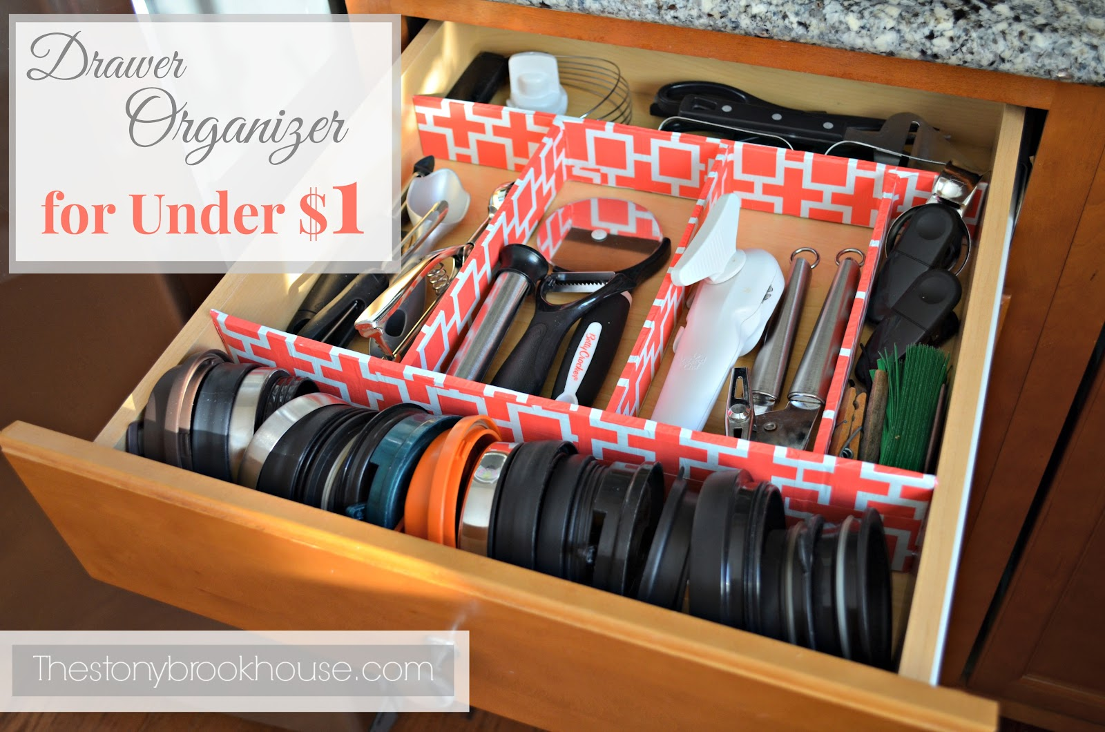 Kitchen Drawer Organizer Kitchen Utensil Drawer Organizer For Under 1 The Stonybrook House