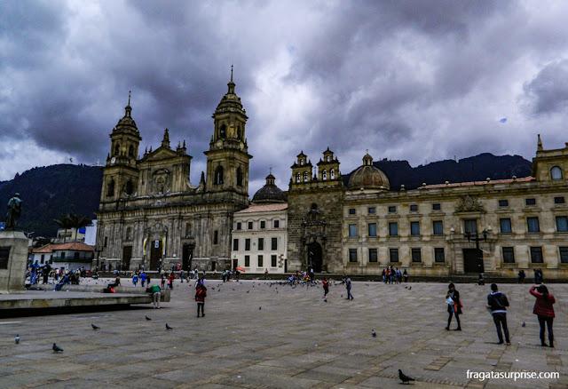 Catedral de Bogotá, na Praça de Bolívar, Colômbia