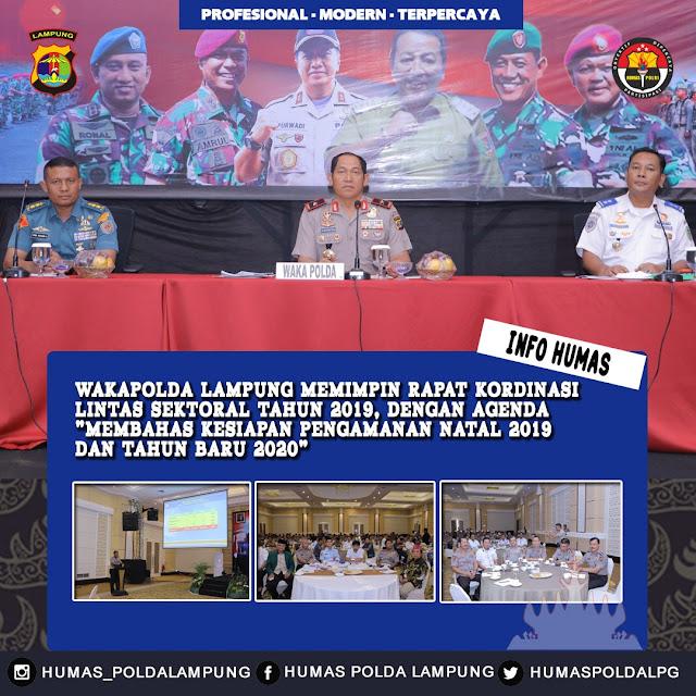Wakapolda Lampung Pimpin Rakor Lintas Sektoral Bidang Opsnal 2019