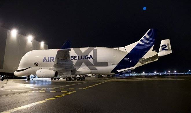 Giant airliner Airbus BelugaXL launched cargo transportation