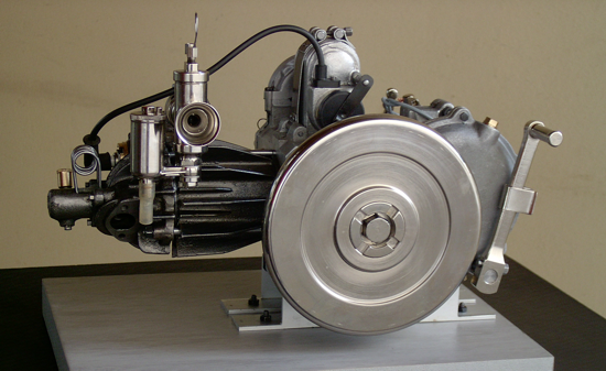 Moto Guzzi Normale engine - left