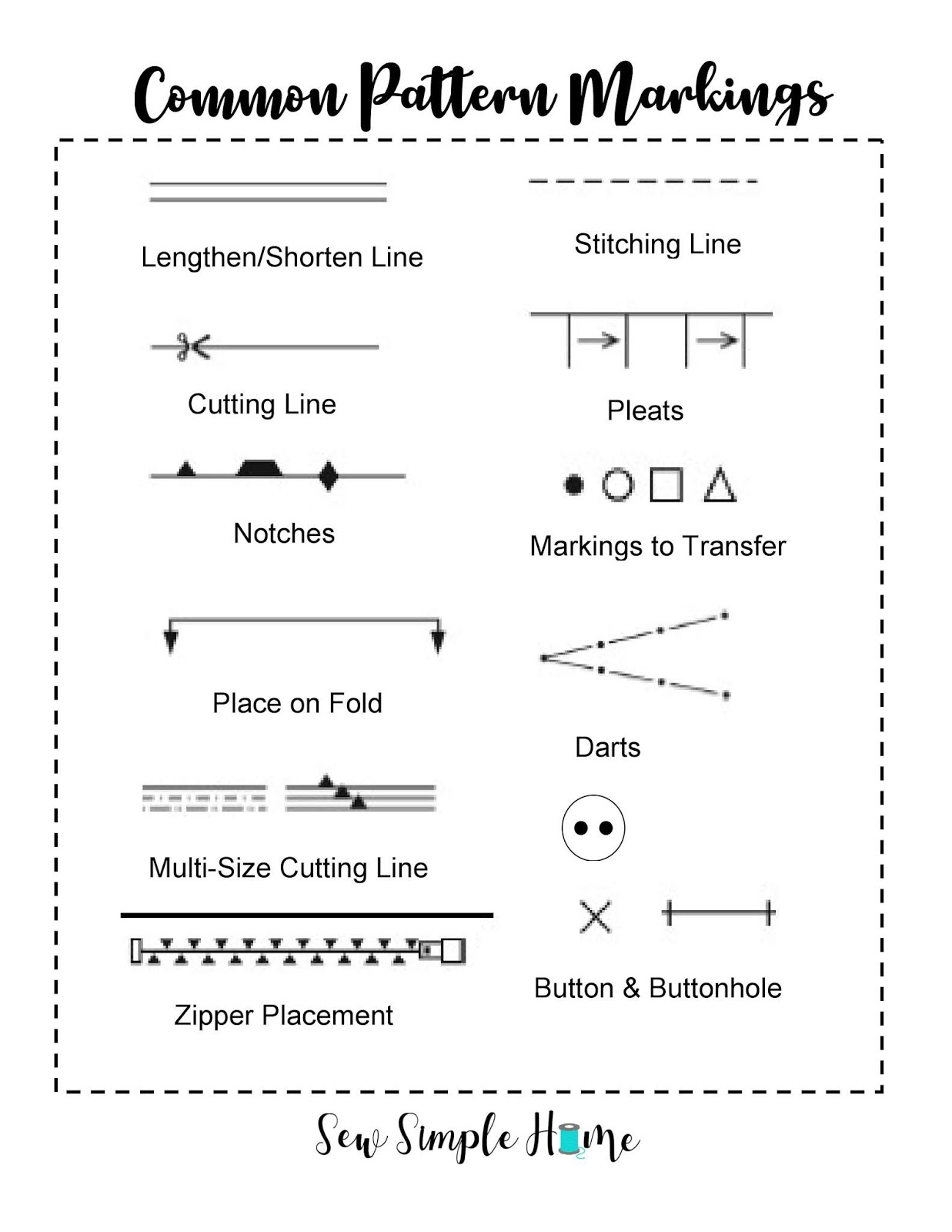 How To Read A Pattern : pattern, Sewing, Pattern, Fabric, Layout, Cutting, Simple