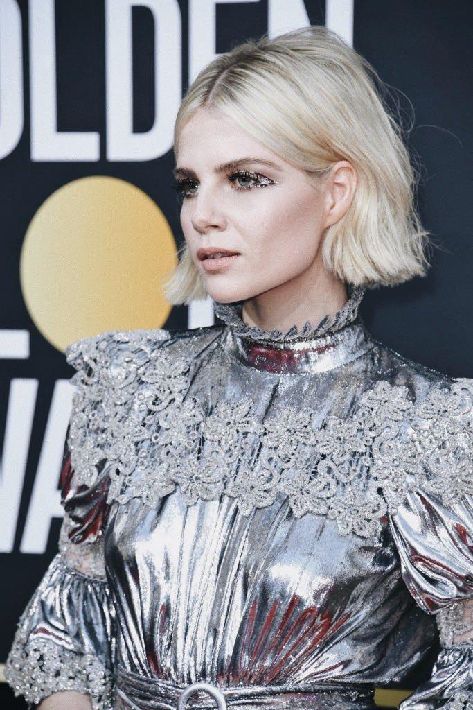 Lucy Boynton In Louis Vuitton – 2020 Golden Globe Awards
