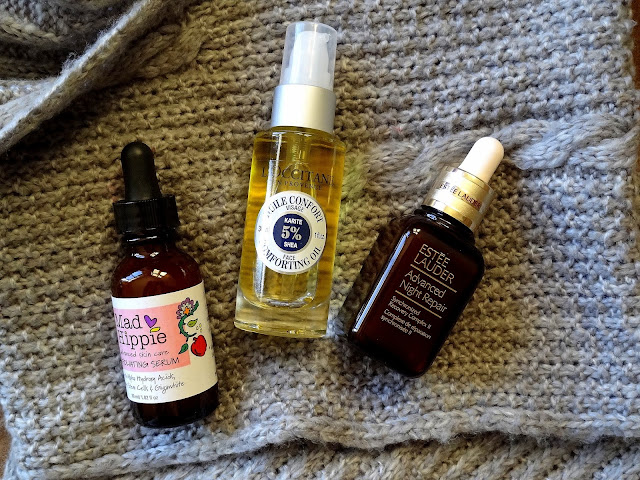 Three Skincare Loves for winter from loccitane, mad hippie, estee lauder